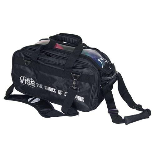Vise 2 Ball Clear Top Tote Roller Black