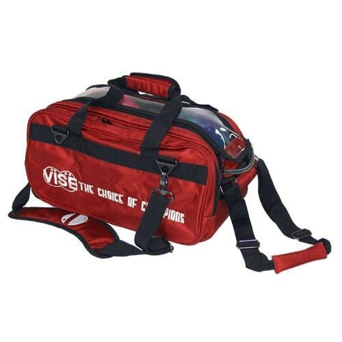 Vise 2 Ball Clear Top Tote Roller Red