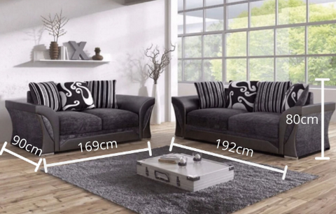 Shannon Corner Sofa - 3 Seater - 2 Seater - RJF Furnishings - Pay Weekly