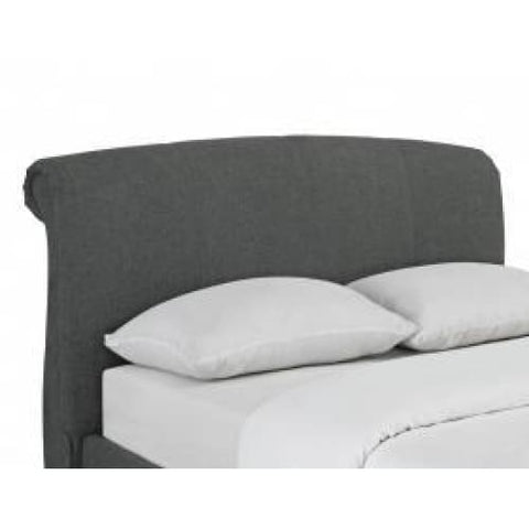 Image of Arabella Linen Heart Fabric Bed Grey - RJF Furnishings - Furniture Specialist
