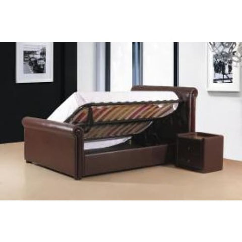 Image of Caxton PU Storage Bed - RJF Furnishings - Furniture Specialist