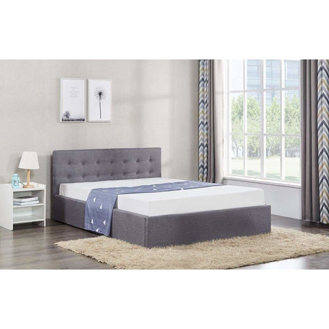 Image of Chelsea Ottoman Gas Lift Storage Fabric Bed - RJF Furnishings - Furniture Specialist