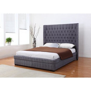 Genesis Linen Bed Dark Grey - RJF Furnishings - Furniture Specialist