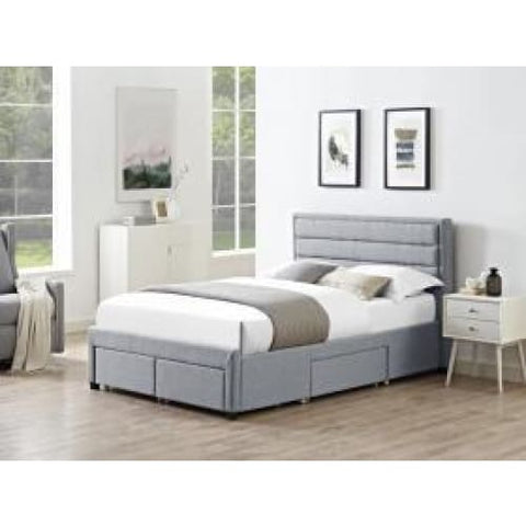Paisley 4 Drawer Linen Fabric Bed - RJF Furnishings - Furniture Specialist