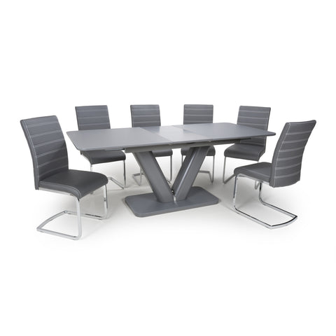 Image of VENUS EXTRA LARGE EXTENDABLE GREY DINING SET - RJF Furnishings - Furniture Specialist