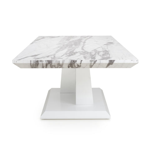 SATURN MARBLE EFFECT TOP HIGH GLOSS GREY/WHITE COFFEE TABLE - Corner Sofas and Sofa Sets - RJF Furnishings - Online Furniture Store - Finance Available
