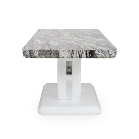 NEPTUNE MARBLE EFFECT TOP HIGH GLOSS GREY/WHITE COFFEE TABLE - Corner Sofas and Sofa Sets - RJF Furnishings - Online Furniture Store - Finance Available