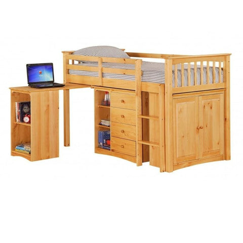 Image of Porto Midi Sleeper with Desk, Chest & Bookcase - RJF Furnishings - Furniture Specialist