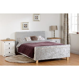 Shelby Sleigh Bed High Foot End - RJF Furnishings - Furniture Specialist