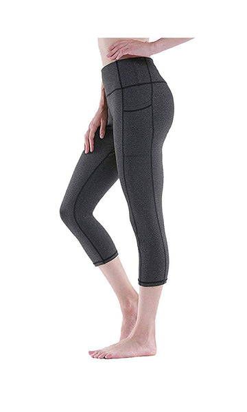 Akalors High Waist Pocket Tummy Control Workout Yoga Leggings Capri Pants Women n Girls - Apparel | Akalors