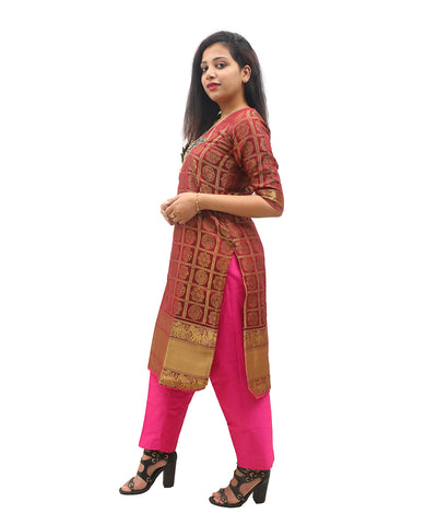 products/Banarasi_Silk_Zari_Border_Kurti_Pink_-_Akalors119_1.jpg