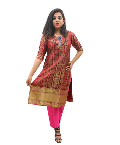 products/Banarasi_Silk_Zari_Border_Kurti_Pink_-_Akalors119.jpg