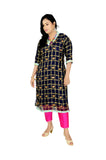 Georgette Readymade Kurti with Stone Work in Blue | Akalors