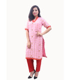 Georgette Readymade Designer Kurti with Stone Work in Pink | Akalors
