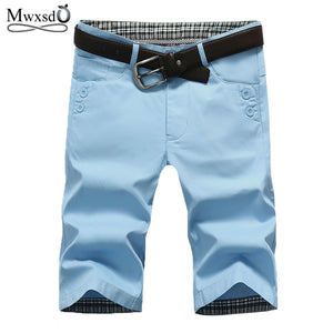 high quality Mwxsd Brand Mens Cotton Shorts Summer Men Shorts Homme Stylish Casual Beach Shorts Men Short Pants 28~38 - SuRegaloExpress