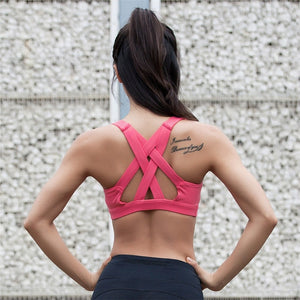 Colorvalue High Support Sports Bra Women Quick Dry Running Gym Yoga Bra Breathable Padded Fitness Top Sexy Back Sports Bras Vest - SuRegaloExpress