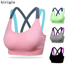 Cargar imagen en el visor de la galería, Cross Fitness Yoga Bra Seamless Padded Sports Top Running Underwear Sport Brassiere Sexy Compression Sports Bra Top For Women - SuRegaloExpress