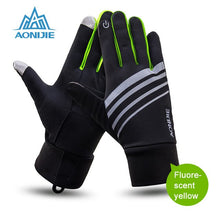 Cargar imagen en el visor de la galería, Sports Gloves Touch Screen Running Gloves with Key Pocket Windproof Cycling Climbing Full Finger Fitness