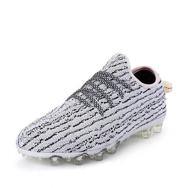 Original Soccer Shoes White Black Mens Teenager Football Boots