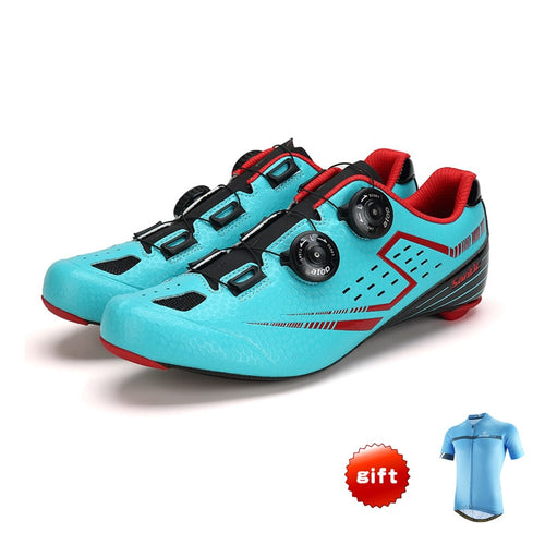 SANTIC Carbon Fiber Road Cycling Shoes Mens