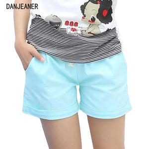 Danjeaner 2017 Summer Casual Loose Cotton High Waist Shorts Youth Solid Slim Drawstring Elastic Waist Shorts Women Shorts Mujer - SuRegaloExpress
