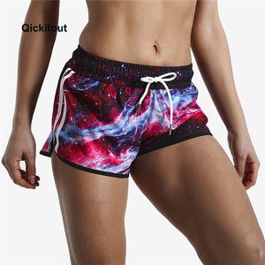 Qickitout Big Size Fashion New 16 styles Color elastic casual shorts women Sportswear Loose Fitness shorts Summer styles Beach