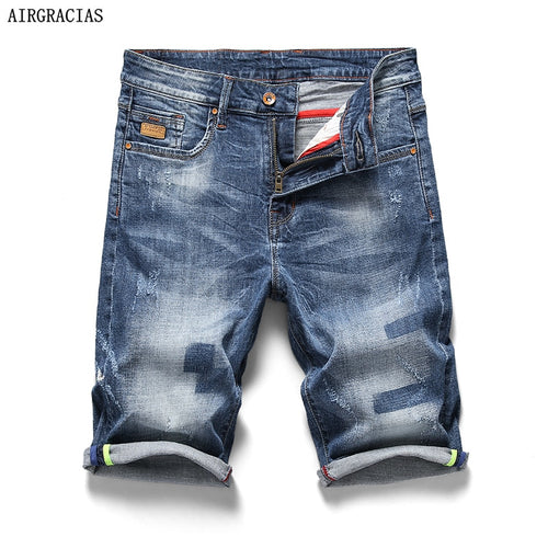AIRGRACIAS 2018 New Arrive Shorts Men Jeans Brand-Clothing Retro Nostalgia Denim Bermuda Short For Man Blue Jean Size 28-40 - SuRegaloExpress
