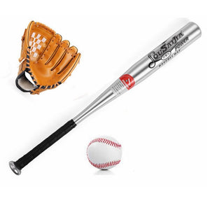 1Set Baseball Bat +Gloves + Ball Set for Kids 24inches bate Softball 10.5 inches Gloves - SuRegaloExpress
