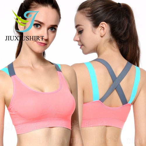 Women Sexy Fitness Yoga Push Up Sports Bra Running Seamless Padded Professional Shockproof Pink Black Plus Size Top Bra xl xxl