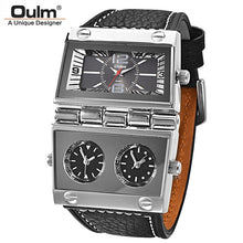 Cargar imagen en el visor de la galería, Men Dual Display Sports Watches Oulm Men Watch Big Size - SuRegaloExpress