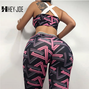 HEYJOE New Leggings Set For Women Fashion Print Push Up Bodybuilding Casual Fitness Clothing For Leggings Sexy Shaping Leggings - SuRegaloExpress