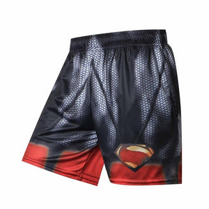 Black superman/batman 2018 New Shorts Men Summer Hot Sale Beach Shorts  Casual Style Loose Elastic Fashion Brand Clothing - SuRegaloExpress