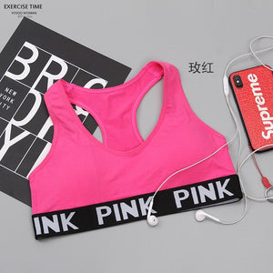 PINK Energy Seamless Bra Padded Push Up Sports Bra High Impact Brassiere Sport Woman Fitness Gym Yoga Sport Bra Top Esportivo Bh