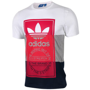 Original New Arrival  Adidas Originals PANEL TONGUE TE Men's T-shirts short sleeve Sportswear