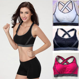 Sexy Woman Sportswear Fitness Running Clothes For Women Jogging Yoga Racerback Sports Bra Padded Underwear Tennis Vest Top