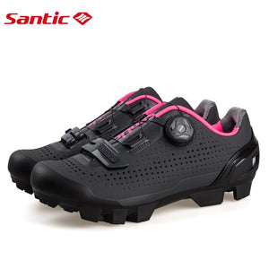 SANTIC Women Cycling Shoes Rotating Lock Shoes