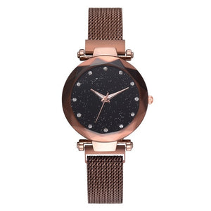 Fashion Starry Sky Women Watches Magnet Buckle Stylish Rose Gold - SuRegaloExpress