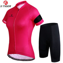 Cargar imagen en el visor de la galería, X-Tiger 4 Colors Women Cycling Clothing Breathable Mountian Bicycle Clothes Ropa Ciclismo MTB Bike Clothes Cycling Jersey Sets