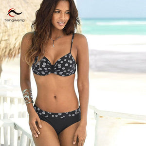 Sexy Push up Bikini Print Floral Swimsuit Plus size Swimwear Cut out Brazilian