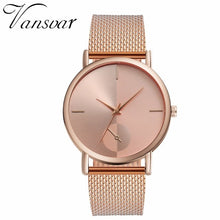 Cargar imagen en el visor de la galería, Women Quartz Watch Luxury Plastic Leather Analog Wrist Watch Female