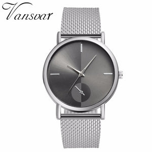 Women Quartz Watch Luxury Plastic Leather Analog Wrist Watch Female