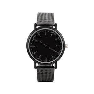 2019 Black Full Steel Fashion Casual Quartz Watch Men Dress Watches Business Male Relojes hombre Minimalism Simple Wristwatch - SuRegaloExpress