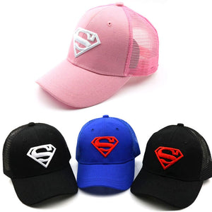Children Baseball Caps Cartoon Embroidery Superman Boys Girls Age 2-8 Years - SuRegaloExpress