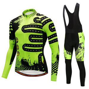 Discount Winter Thermal Fleece Cycling Jersey Sport Ropa Ciclismo Invierno Breathable MTB Long Sleeve Bicycle Clothing and Pant - SuRegaloExpress