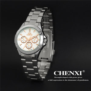 Watches Women  Stainless Steel Womens Quartz Clock