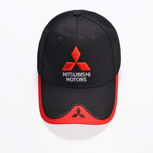 Mitsubishi logo Embroidery Casual Snapback Hat-F1 Racing Motorcycle Sport hat - SuRegaloExpress