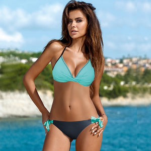 Bikini Cross Patchwork Women Swimwear - SuRegaloExpress