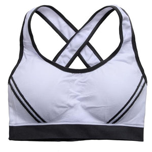 High Stretch Breathable Sports Bra Top Fitness Women Padded Sport Bra for Running Yoga Gym Seamless Crop Bra - SuRegaloExpress