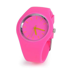 Reloj Mujer Super soft Fashion Jelly Silicone Women Sport Wrist Watch Multiple Colour Geneva Lady Dress Casual quartz watch Hot