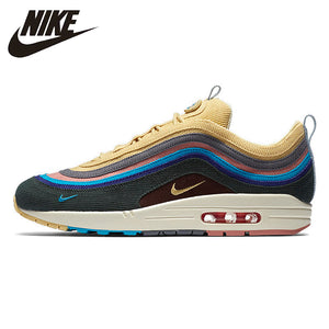 Nike Air Max 1/97 SW Sean Wotherspoon Summer Man Outdoor Running Shoes Comfortable non-slip Sneakers# AJ4219-400